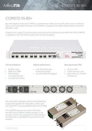 CCR1072-1G-8Splus Brochure Mikrotik - mstream.com.ua