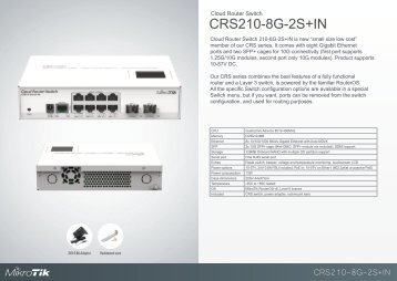 CRS210-8G-2SplusIN Brochure Mikrotik - mstream.com.ua