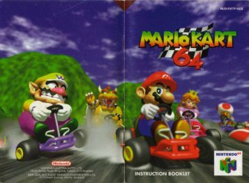 Mario Kart 64 Instruction Booklet