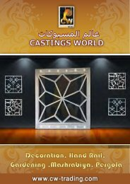 Casting World Decoration Aliuminum