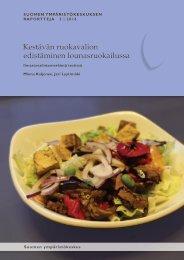 Kestävän ruokavalion edistäminen lounasruokailussa