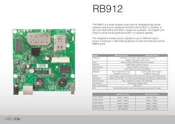 RB912 Brochure Mikrotik - mstream.com.ua