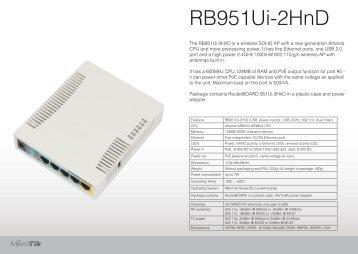 RB951Ui-2HnD Brochure Mikrotik - mstream.com.ua