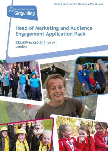 Head of Marketing and Audience Engagement Application Pack
