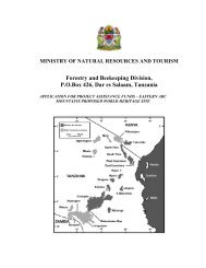 MINISTRY OF NATURAL RESOURCES AND TOURISM Forestry ...