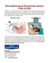 Best Laparoscopy and Hysteroscopy Surgery Clinic in Delhi