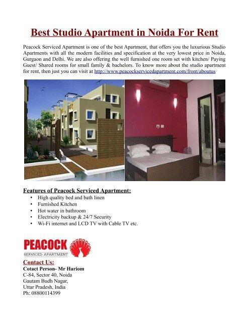 Best Studio Apartment In Noida For Rent