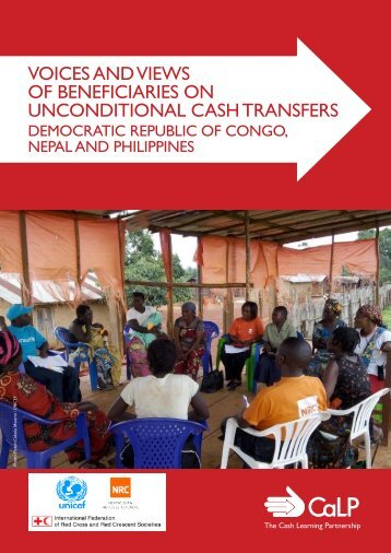 VOICES AND VIEWS OF BENEFICIARIES ON UNCONDITIONAL CASH TRANSFERS
