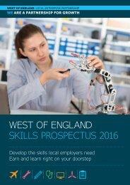WEST OF ENGLAND SKILLS PROSPECTUS 2016