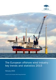 The European offshore wind industry - key trends and statistics 2015