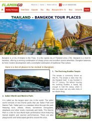 THAILAND – BANGKOK TOUR PLACES