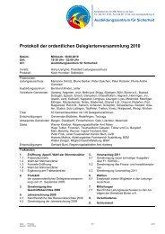 Protokoll der ordentlichen Delegiertenversammlung 2010