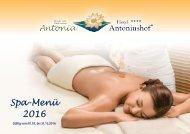 Hotel Antoniushof Spamenü 2016