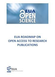 EUA ROADMAP ON OPEN ACCESS TO RESEARCH PUBLICATIONS
