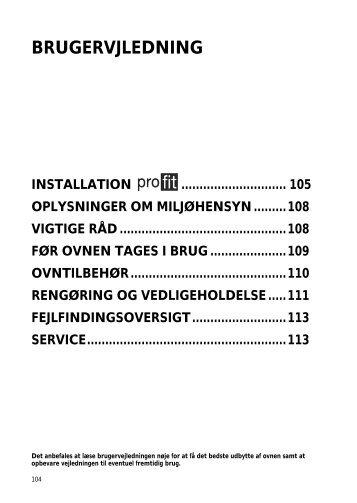 KitchenAid 500 947 65 - Oven - 500 947 65 - Oven DA (857915501510) Mode d'emploi
