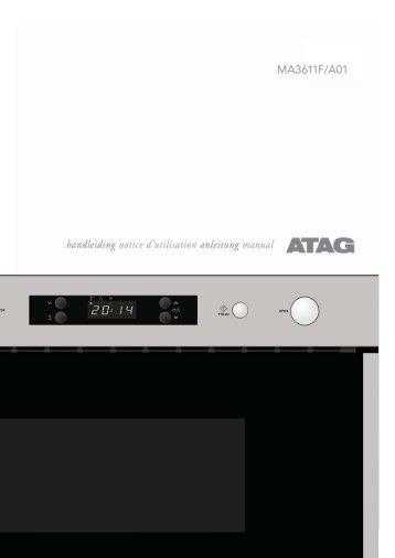 KitchenAid MA3611F/A02 - Microwave - MA3611F/A02 - Microwave DE (859116012900) Mode d'emploi