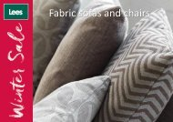 Fabric sofas and chairs