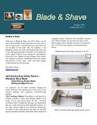 BLADE and SHAVE January 2016 by Bob Hall