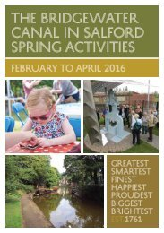 CANAL IN SALFORD spring Activities