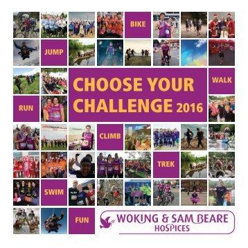 CHOOSE YOUR CHALLENGE