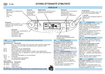 KitchenAid JT 355 alu - Microwave - JT 355 alu - Microwave HU (858735599640) Guide de consultation rapide