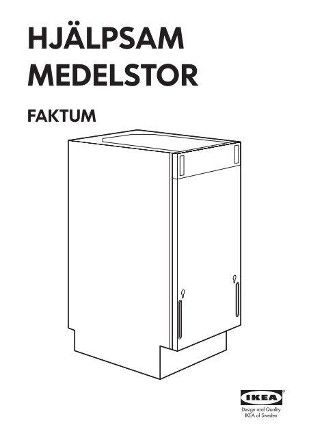 Ikea Medelstor Lave Vaisselle Encastrable 80299360 Notice Et Plan