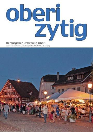OberiZytig September 2012 - Ortsverein Oberwinterthur