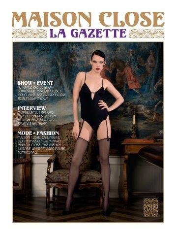 Lingerie-von Ow Freiburg Gazette No. 1. Maison Close