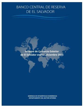 Informe de Comercio Exterior de El Salvador enero - diciembre 2015
