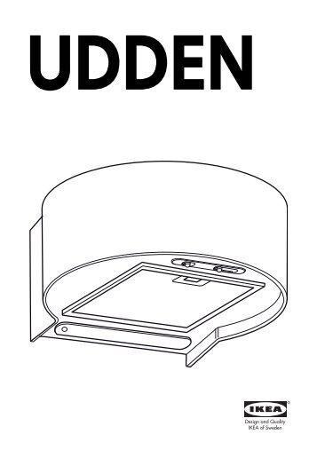 Ikea UDDEN hotte aspirante murale - 80306624 - Plan(s) de montage
