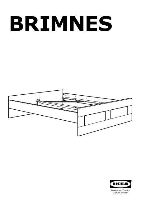Ikea Brimnes Cadre De Lit S59902922 Plan S De Montage