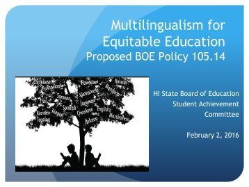 Multilingualism for Equitable Education