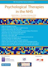 Psychological Therapies in the NHS