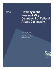 Diversity in the New York City Department of Cultural Affairs Community