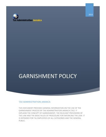 GARNISHMENT POLICY