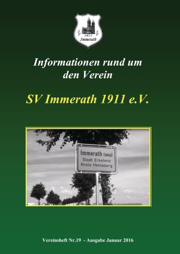 SVI Vereinsheft 19