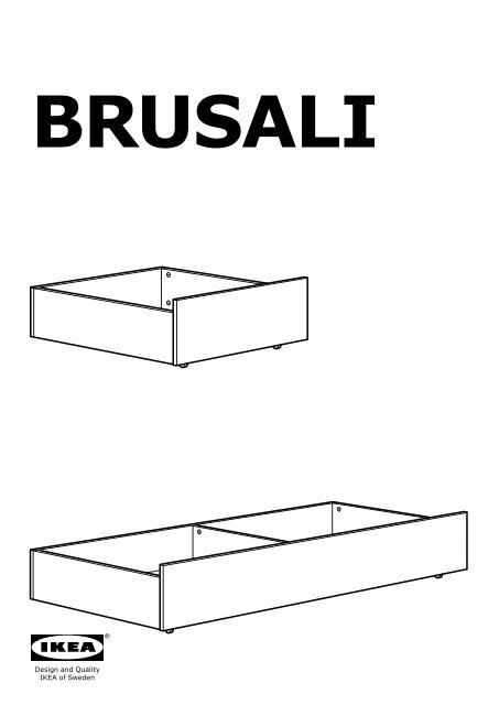 Ikea Brusali Cadre De Lit 4bo Amp Icirc Tes De Rangement S49019687
