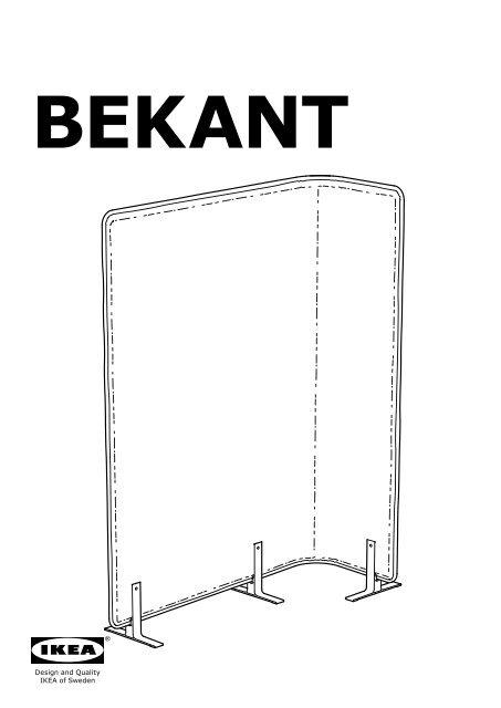 Ikea Bekant S Eacute Parateur Bureau 70268811 Plan S De
