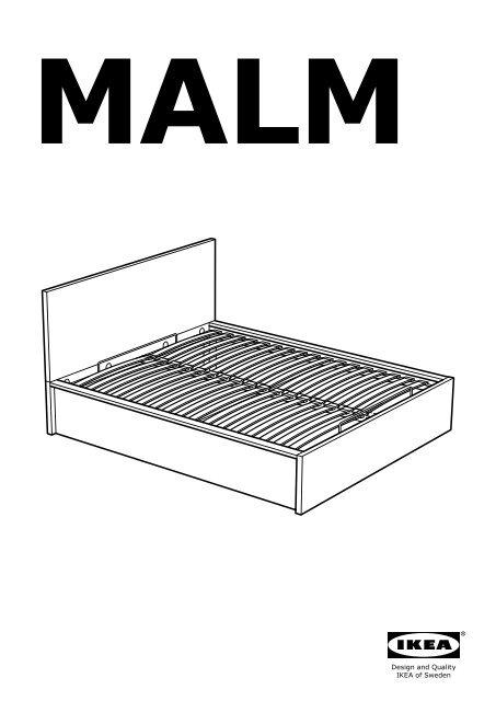 Ikea Malm Cadre Lit Coffre 10249868 Plan S De Montage