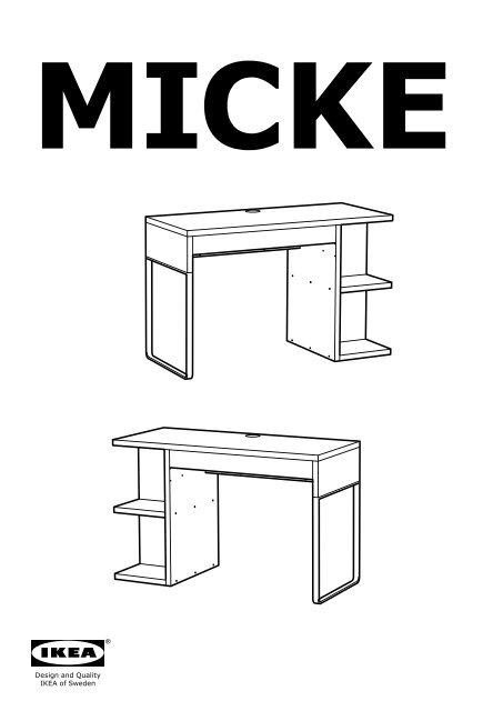 Ikea Micke Bureau Avec Rangement Int Amp Eacute Gr Amp Eacute 20244851 Plan S De Montage