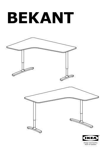 ikea bekant bureau duangle gch s plans de montage with tablette angle ikea. Black Bedroom Furniture Sets. Home Design Ideas