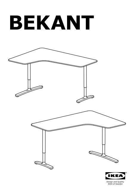 Ikea Bekant Bureau D Angle Gch S09006390 Plan S De Montage