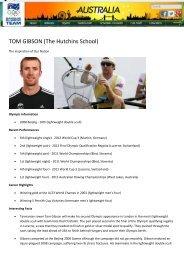 TOM GIBSON (The Hutchins School) - Boarding Schools