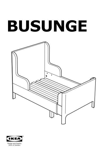 Ikea Busunge Lit Extensible 80274350 Plans De Montage