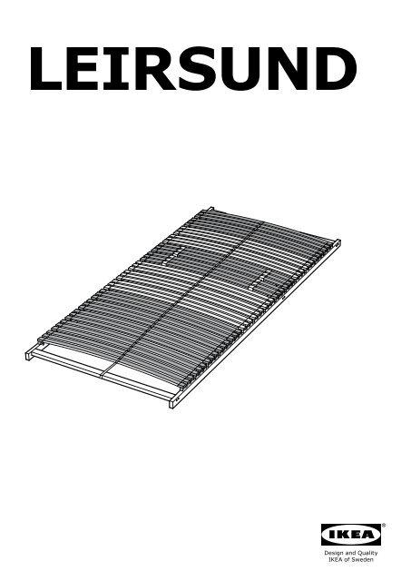 Ikea Hemnes Cadre De Lit S49020025 Plan S De Montage