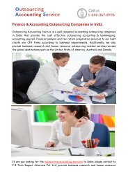 Accounting Outsourcing Services To India