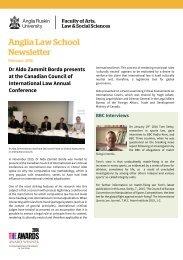 Anglia Law School Newsletter February 2016