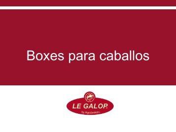 Le Galop. Agrobroker. Boxes para caballos