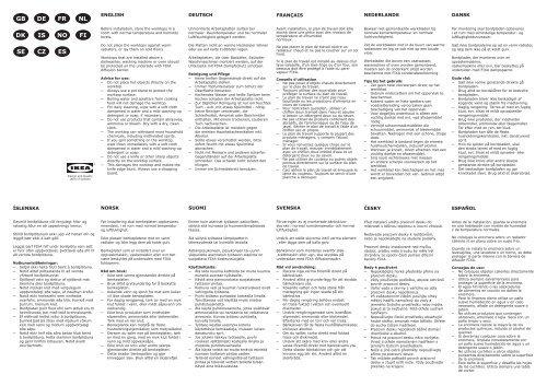 Ikea Ekbacken Plan De Travail 80275222 Manuels