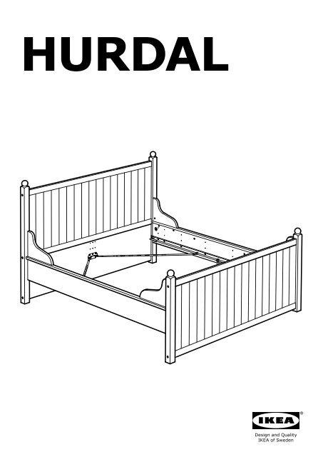 Ikea Hurdal Cadre De Lit S19027288 Plan S De Montage
